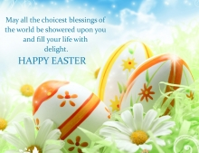 Easter wallpaper with a message