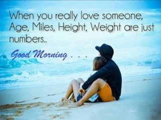 Romantic good morning wish quote