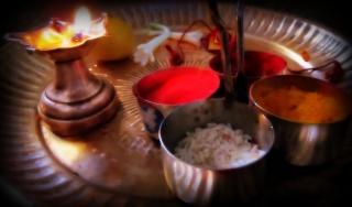 Puja thali for raksha ban