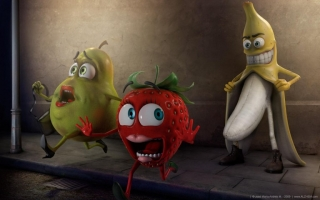 Banana funny fruit hd wallpaper
