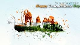 Independence day hd wallpaper with gandhiji