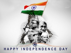 Independence day hd wallpaper with indian legends ,wallpapers,images,