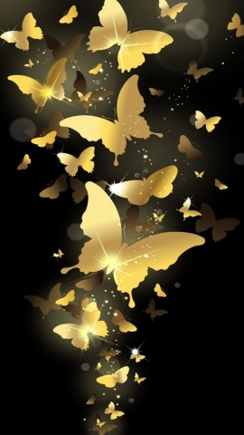 Screen butterfly wallpaper for mobile phones