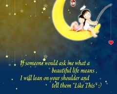 Cute cartoon love hd wall