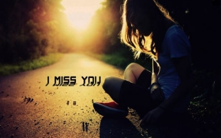 Miss you hd wallpaper of girl