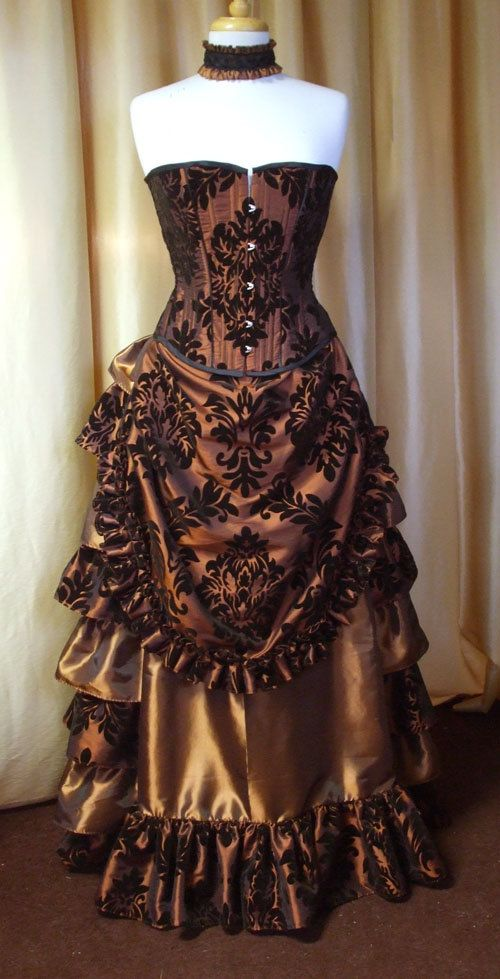 Chocolate brown dress for ladies
