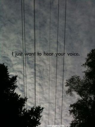 Just want to hear your voice hd wallpaper