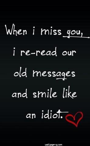 When i miss you hd wallpaper for mobile