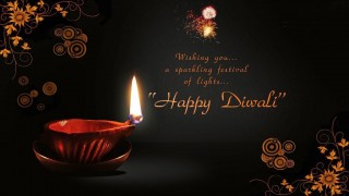 Diwali wallpaper with diya
