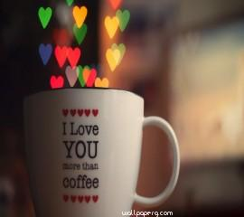 A cup of love hd wallpaper for mobile