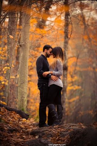 Love in the autumn season for mobile ,wallpapers,images,