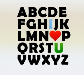 Alphabet love hd wallpaper