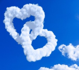 Cloud hearts hd wallpaper