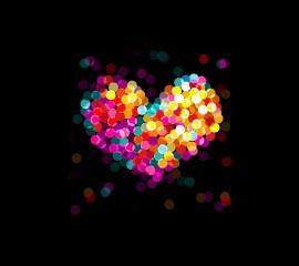 Colorful heart hd wallpap
