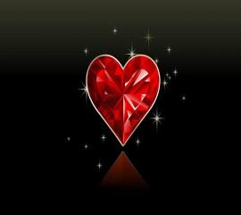 Crystal heart hd wallpaper