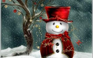 Snow man hd wallpaper