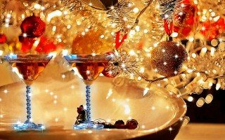 Christmas glass of wine hd wallpaper for laptop mobile ,wallpapers,images,