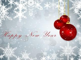 Sweet happy new year wishes hd wallpaper