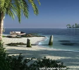 3d beach hd wallpaper for laptop