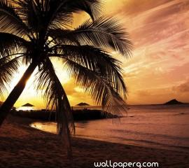 Sunset beach hd wallpaper for laptop (2)
