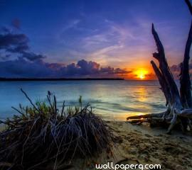 Sunset beach hd wallpaper for laptop (3)