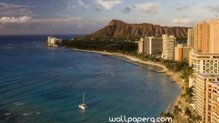Waikiki beach honolulu oahu hd wallpaper for laptop