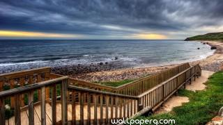 Wooden bridge coast hd wallpaper for laptop