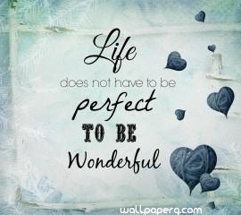 Wonderful life quote hd wallpaper for laptop & mobile