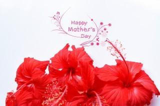 Happy mothers day in red