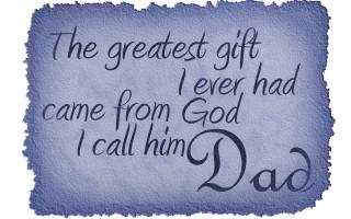 Happy fathers day image quote