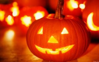 Halloween pumpkin with light hd wallpaper