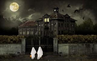 Halloween scary house hd wallpaper