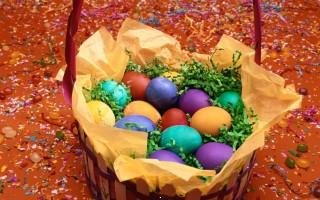 Colourful easter eggs hd