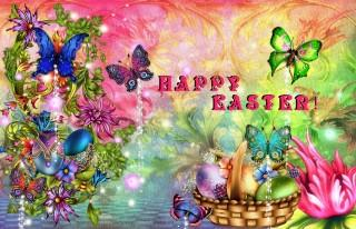 Colourful easter hd image