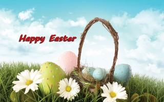 Happy easter wishes for mobile