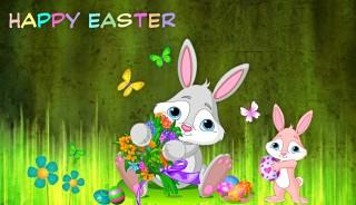 Easter bunnies ,wallpapers,images,