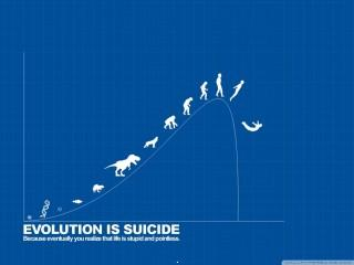 Evolution is suicide wallpaper