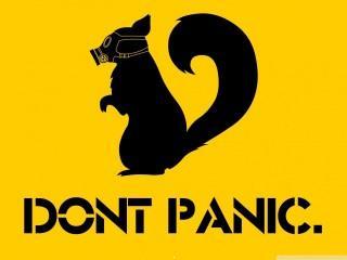Dont panic wallpaper