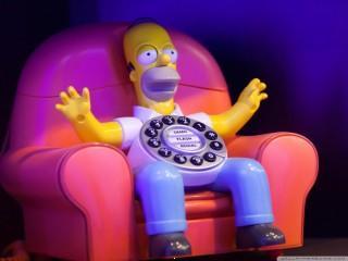 Homer calls home wallpape