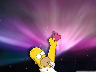 Homer loves donuts wallpa