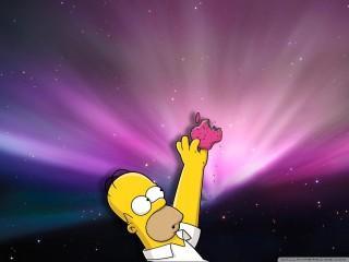 Homer loves donuts wallpa
