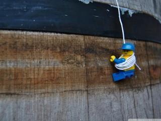 Lego climbing wallpaper