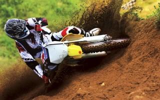 Suzuki motocross bike race