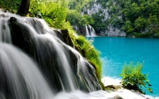 Plitvice lakes national park waterfall