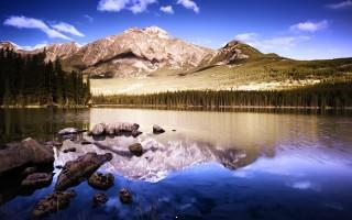 Reflective mountains