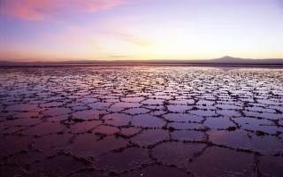 Salt lake in chile