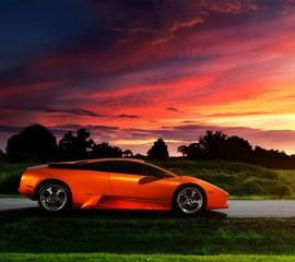 Orange lamborghi
