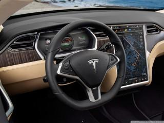 Tesla inside wallpaper