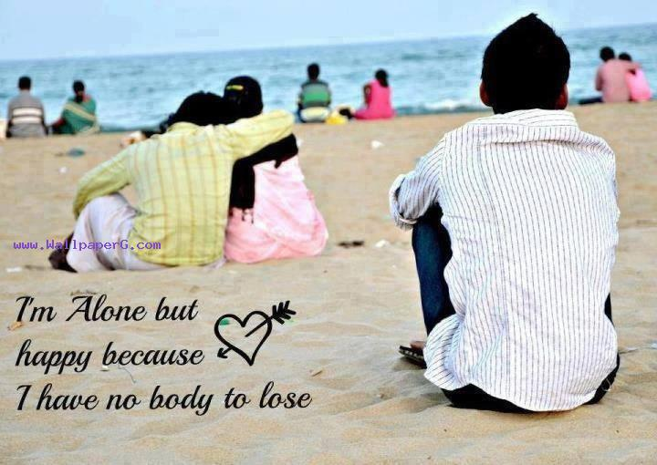 I Am Alone But Happy Wallpaper Download Alone but hap...