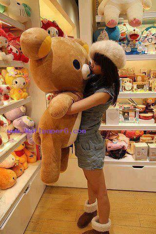 Girl with teddy bear ,wide,wallpapers,images,pictute,photos